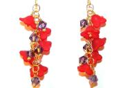 Fanciful Flowers Beaded Earrings Free Pattern with Instructions and Directions