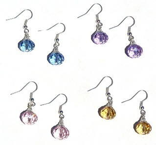 The earring kit includes beads for all 4 pairs of earrings!